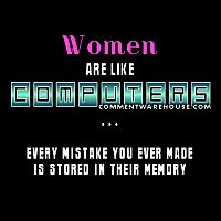 funny women are like computers every mistake