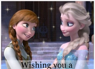Wishing You A Magical Birthday - Elsa & Anna Frozen