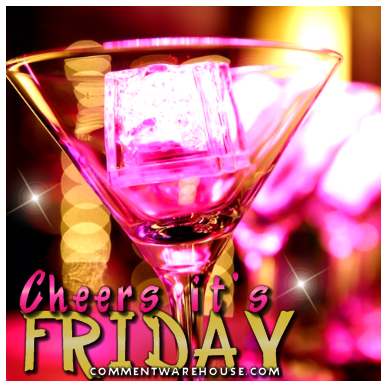 Cheers Its Friday Martini Glass
