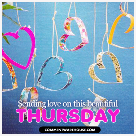 sending love on this beautiful thursday paper hearts