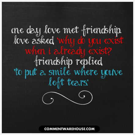One day love met friendship