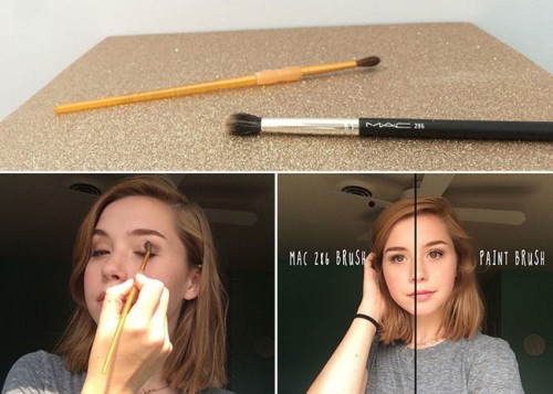 10 Beauty Hacks - #5 No Need for Expensive Make Up Brushes @ 10GoneViral.com