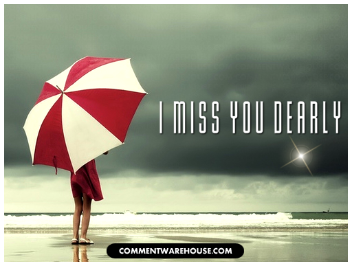 I miss you dearly | Miss You Graphic