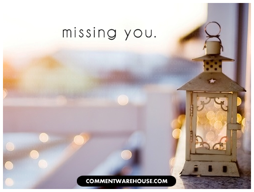 Missing You Lantern | Miss You Graphic