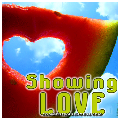 Showing love watermelon heart   Love Graphic