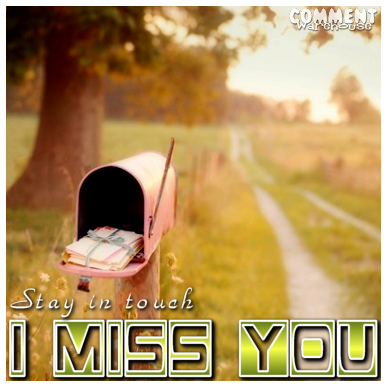 Stay in touch. I Miss You | Miss You Graphic