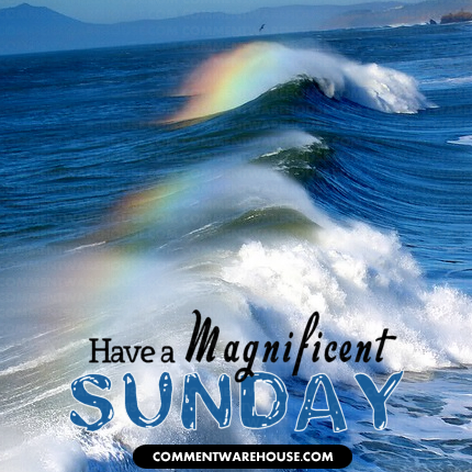 Have a magnificent Sunday rainbow waves