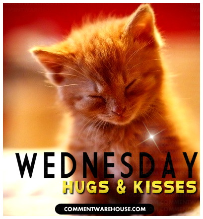 wednesday hugs and kisses