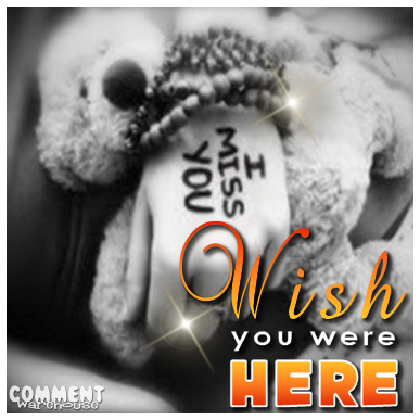 Wish You Were Here | Miss You Graphic