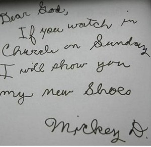 1. Mickey's New Shoes - 12 Adorable Dear God Letters