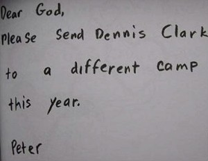 10. Peter's Camp - 12 Adorable Dear God Letters