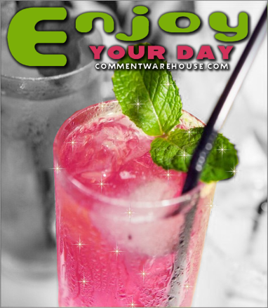 Enjoy your day pink lemonade | Good Day Graphic