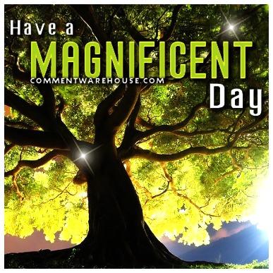 Have a magnificent day | Good Day Graphics