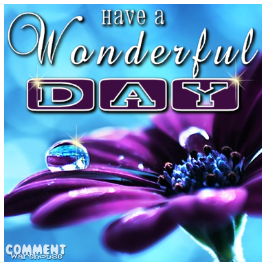 Have a wonderful day purple flower | Good Day Graphics