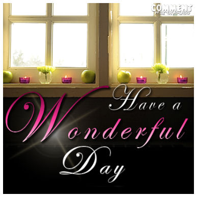 Have a Wonderful Day Sunlight| Good Day Graphics