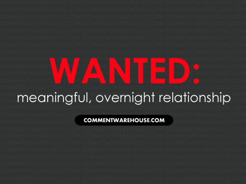 Wanted Meaningful Overnight Relationship | Funny Graphic | Flirty Graphic