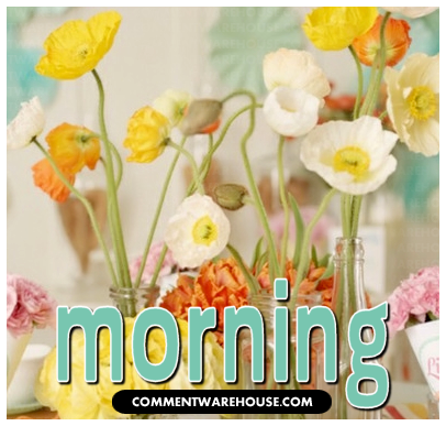 Morning Spring Flowers | Good Morning Graphics