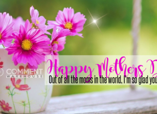 Happy Mothers Day. Out of all the moms in the world, I'm so glad you are mine. | Mothers Day Comments & Graphics