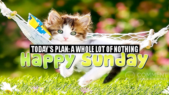 Today's Plan: A Whole Lot of Nothing. Happy Sunday | Happy Sunday Comments & Graphics