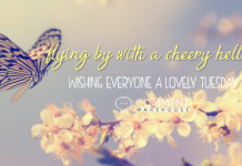 Flying by with a cheery hello ... Wishing everyone a lovely Tuesday | Tuesday Comments & Graphics