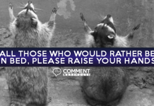 All those who would rather be in bed please raise your hands | Funny Comments | Animal Comments