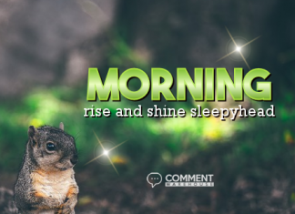 Morning Rise and Shine Sleepyhead | Good Morning Comments & Graphics