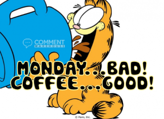 Monday Bad Coffee Good Garfield | Monday Comments | Happy Monday Graphics