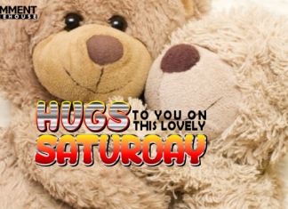Hugs to you on this lovely Saturday | Saturday Comments Graphics