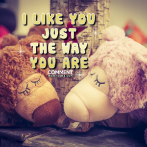 I like you just the way you are | Compliment Comments and Graphics
