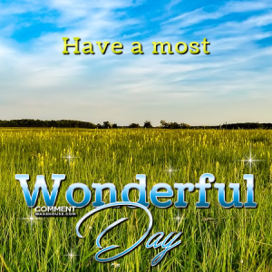 Have a Most Wonderful Day | Good Day Comments and Graphics