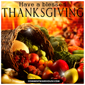 Have a blessed Thanksgiving