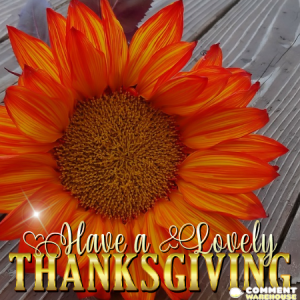 Have a Lovely Thanksgiving
