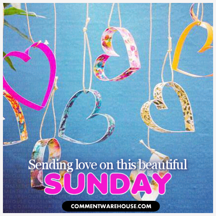 Sending Love on this Beautiful Sunday Paper Hearts
