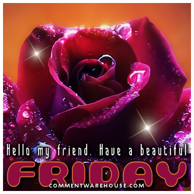 Hello my friend. Have a beautiful Friday. | Friday Greetings and Images