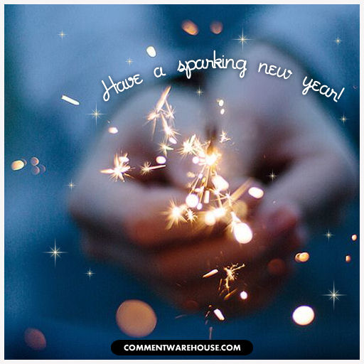 Have a Sparkling New Year Sparkler