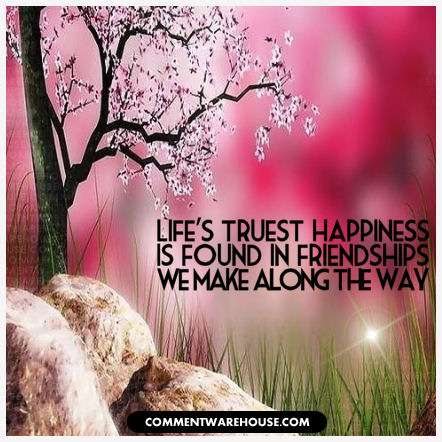 Life's truest happiness is found in friendships we make along the way