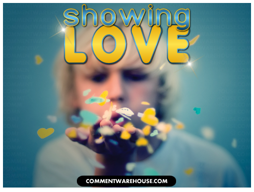 Showing Love Heart Kisses | Love Graphic