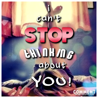 I can't stop thinking about you | Flirty Graphic
