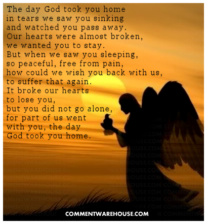 The Day God Took You Home Angel
