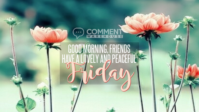 Good Morning, Friends. Have a Lovely and Peaceful Friday | Friday Comments & Graphics