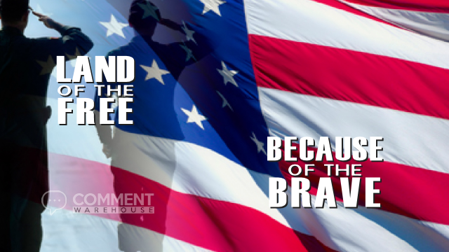 Land of the Free because of the Brave | Memorial Day Graphics | US Holiday Pics