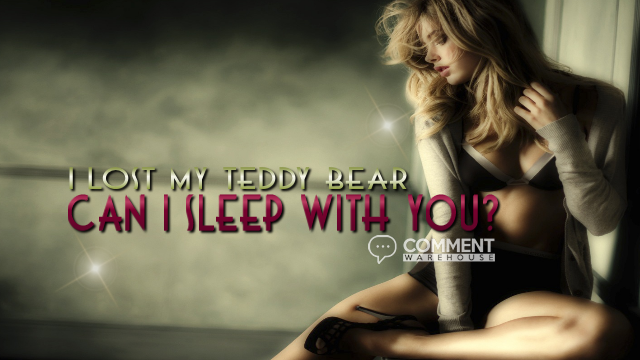I lost my teddy bear can I sleep with you | Frisky Comments & Graphics