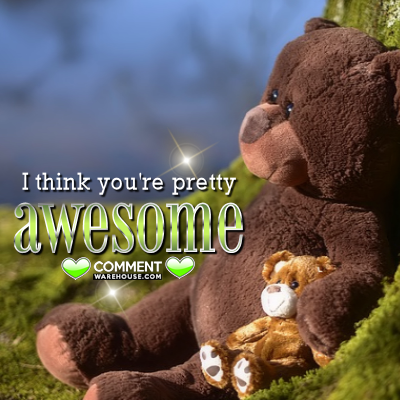 I think you are pretty awesome | Compliment Comments and Graphics