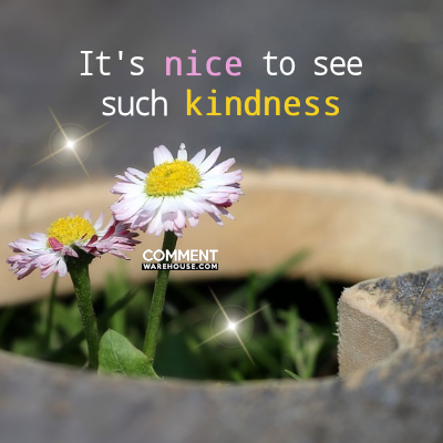 Its nice to see such kindness | Compliment Graphics & Comments