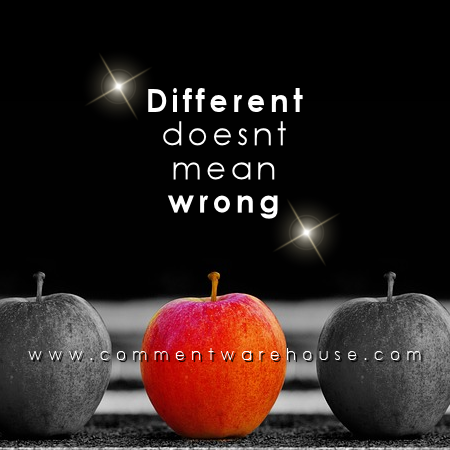 Different doesn't mean wrong | Quote Graphics