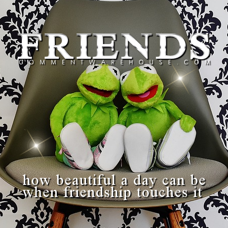 How beautiful a day can be when friendship touches it