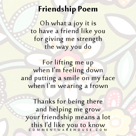 Friendship Poem Oh what a joy it is to have a friend like you | Friendship Quote