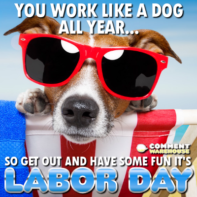 You work like a dog all year... so get out and have some fun it's Labor Day