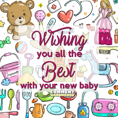 Wishing you all the best with your new baby | Congratulations graphics & messages