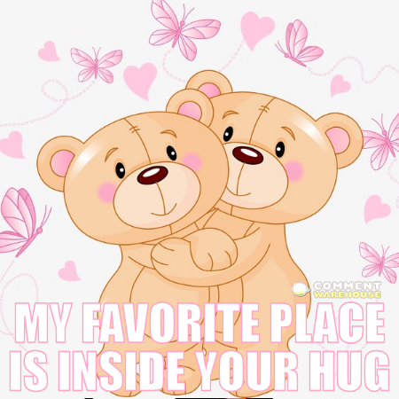 My favorite place is inside your hug. | Hug pics, images, graphics, hug quotes, hug comments.